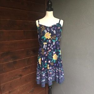 Old Navy floral fit and flare sun dress